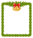Christmas frame with bells Stock Images