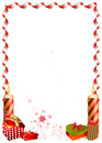 Christmas frame border design suitable for invitations cards etc Stock Photography