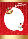 Christmas frame border design suitable for invitations cards etc Stock Image