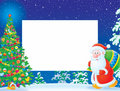 Christmas frame / border with Santa Claus Royalty Free Stock Photography