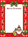 Christmas Frame Card Royalty Free Stock Photography