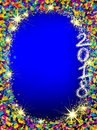 Happy New 2018 Year background with Christmas frame. Royalty Free Stock Photo
