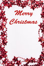 Christmas frame with merry text Royalty Free Stock Photo