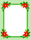 Christmas frame poinsettia Stock Photos