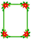 Christmas frame poinsettia Stock Photography