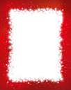 Christmas frame red illustration Royalty Free Stock Photos