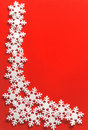 Christmas framework with snowflake Royalty Free Stock Photography