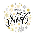 Christmas In French Joyeux Noel Text Ornament For Greeting Card