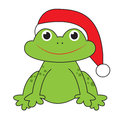 Christmas frog Royalty Free Stock Images