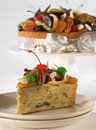 Christmas fruit cake Royalty Free Stock Photo