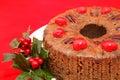 Christmas Fruitcake Closeup Royalty Free Stock Images