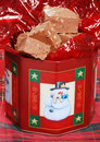 Christmas fudge with nuts Stock Image