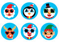 Christmas funky icon Royalty Free Stock Photo