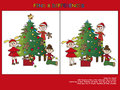 Christmas game find the eight differences Stock Photography
