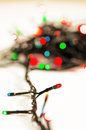 Christmas garland blur lights background Stock Photography