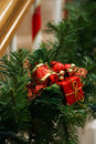 Christmas garland decoration Royalty Free Stock Images