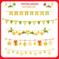 Christmas Garland And Flags Se...