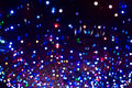 Christmas garland lights background with violet colors Royalty Free Stock Images