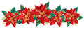 Christmas garland of poinsettia contains transparent objects eps Stock Images