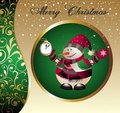 Christmas garland with snowman Royalty Free Stock Image