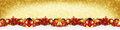Christmas garland super wide red gold  panorama banner Royalty Free Stock Photo