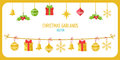 Christmas Garland Vector In Go...