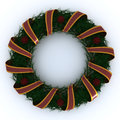 Christmas garland wrapped in ribbon d render of a Stock Photography