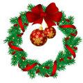 Christmas garlands Royalty Free Stock Image