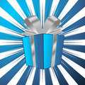 Christmas gift with background Royalty Free Stock Photo