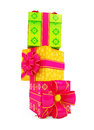 Christmas for gift box with colorful Stock Images