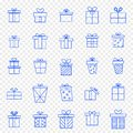 Christmas Gift box Icon set. 25 Vector Icons Pack