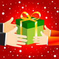 Christmas Gift box offering Royalty Free Stock Image