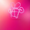Christmas gift box on pink eps vector file Stock Image