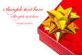Christmas gift box with sample text Stock Image