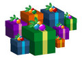Christmas gift boxes Royalty Free Stock Image