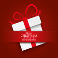 Christmas Gift Carton Red Banner Royalty Free Stock Photo