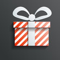 Christmas gift icon vector with shadow this is file of eps format Stock Image