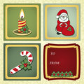 Christmas gift labels Royalty Free Stock Photos