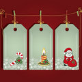 Christmas gift labels. Royalty Free Stock Image