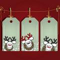 Christmas gift labels. Royalty Free Stock Photography