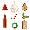 Christmas gift present tags Stock Image