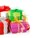 Christmas gift with ribbon and bow Stock Image