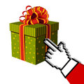 Christmas gift and Santa buying online Royalty Free Stock Images