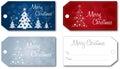 Christmas gift tag set vector Royalty Free Stock Photo