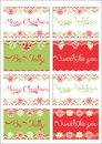 Christmas gift tags printable art Stock Photo