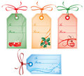 Christmas Gift Tags, vector Royalty Free Stock Photo