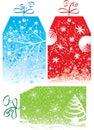 Christmas gift tags, vector illustration Royalty Free Stock Photo