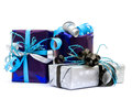 Christmas gifts isolated on white Royalty Free Stock Image