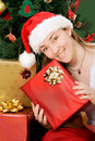 Christmas gifts by santa claus Royalty Free Stock Photos