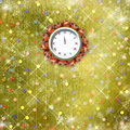 Christmas gifts to the clock Royalty Free Stock Photos